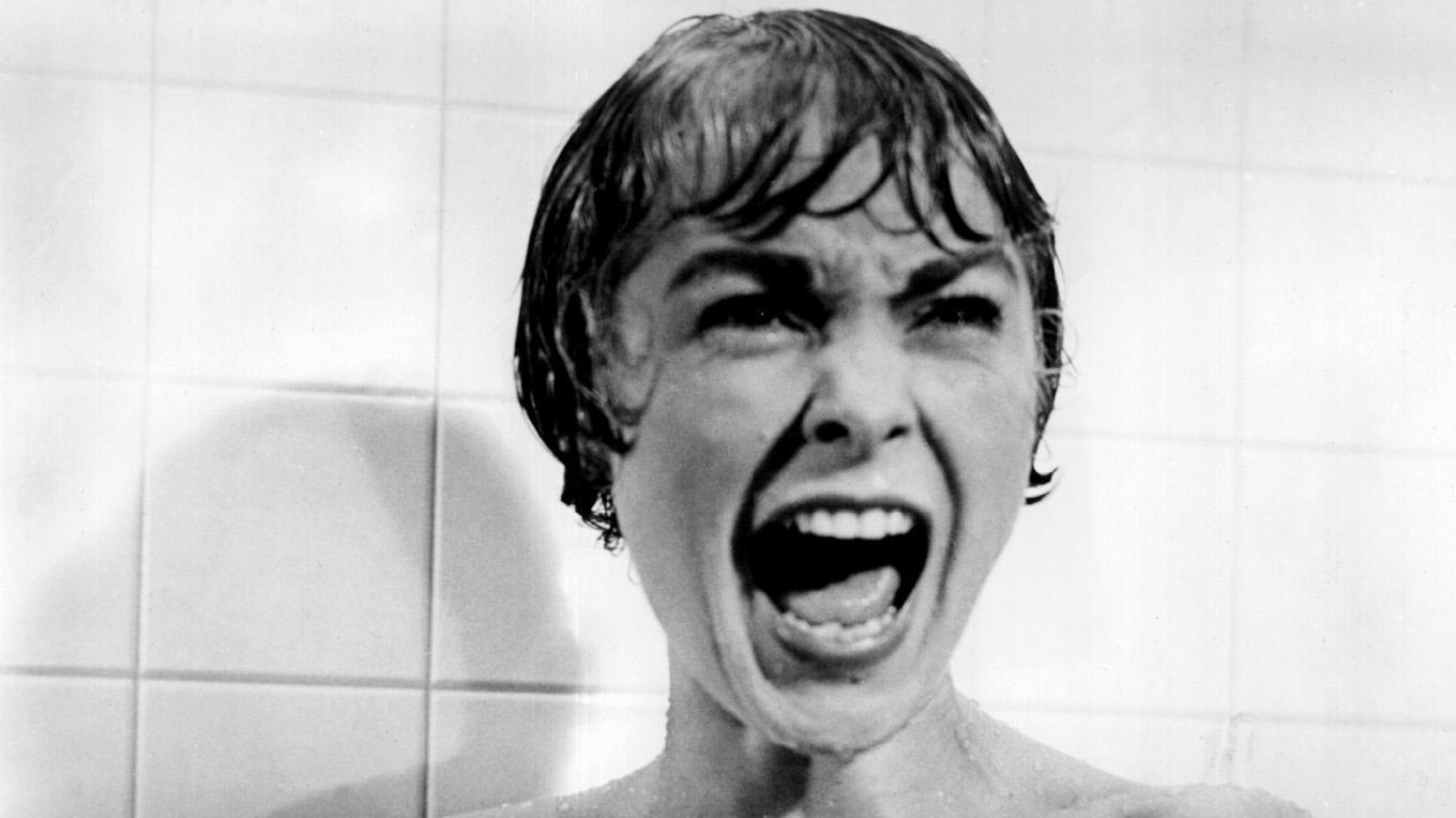 "Janet Leigh screaming in the famous shower scene from ""Psycho."" (Bettmann Archives)"