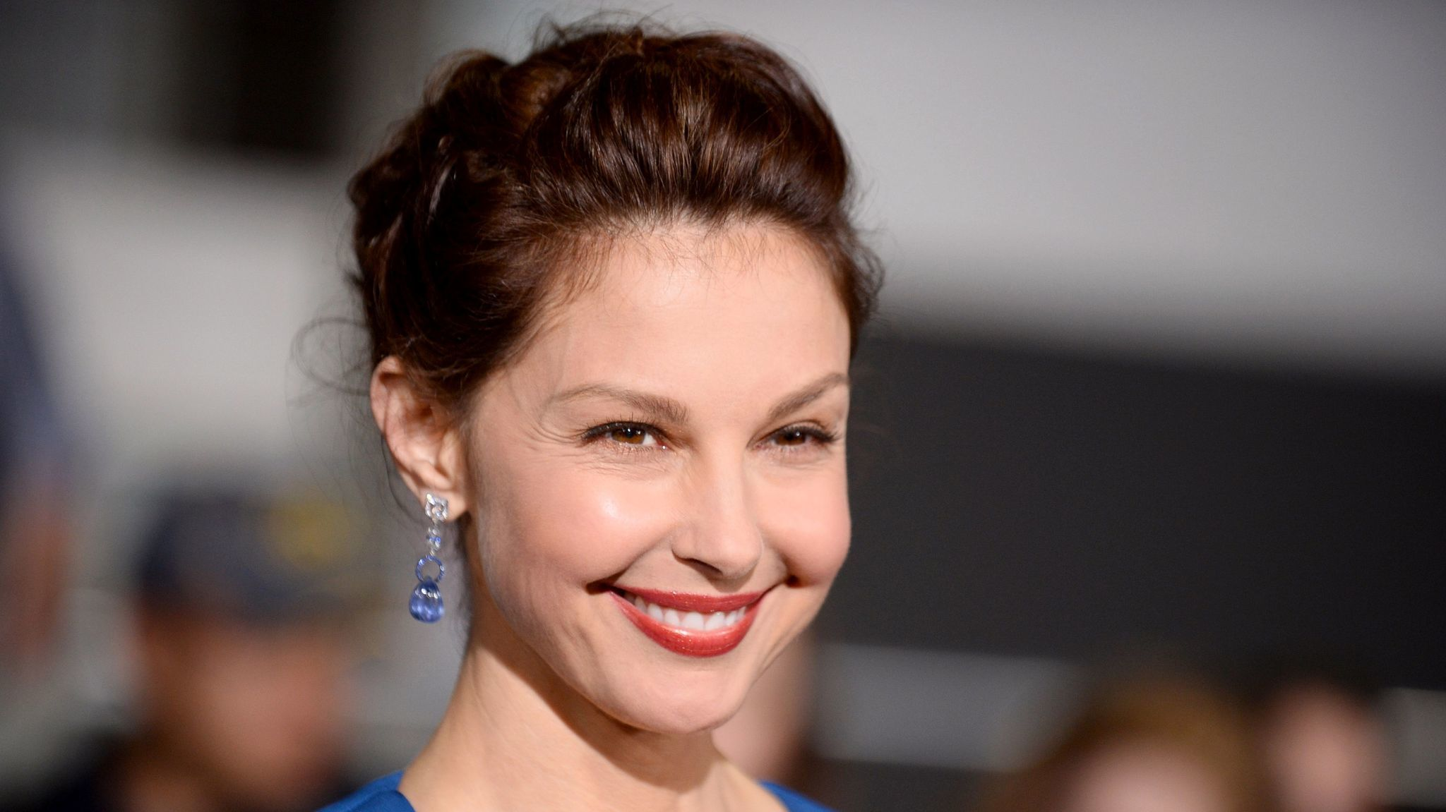 "Ashley Judd at the world premiere of ""Divergent"" at the Westwood Regency Village Theater in Los Angeles."