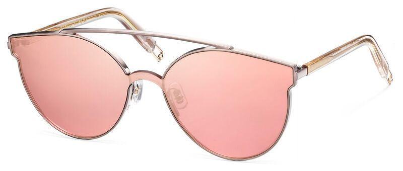 Gentle Monster titanium sunglasses with mirrored lenses.