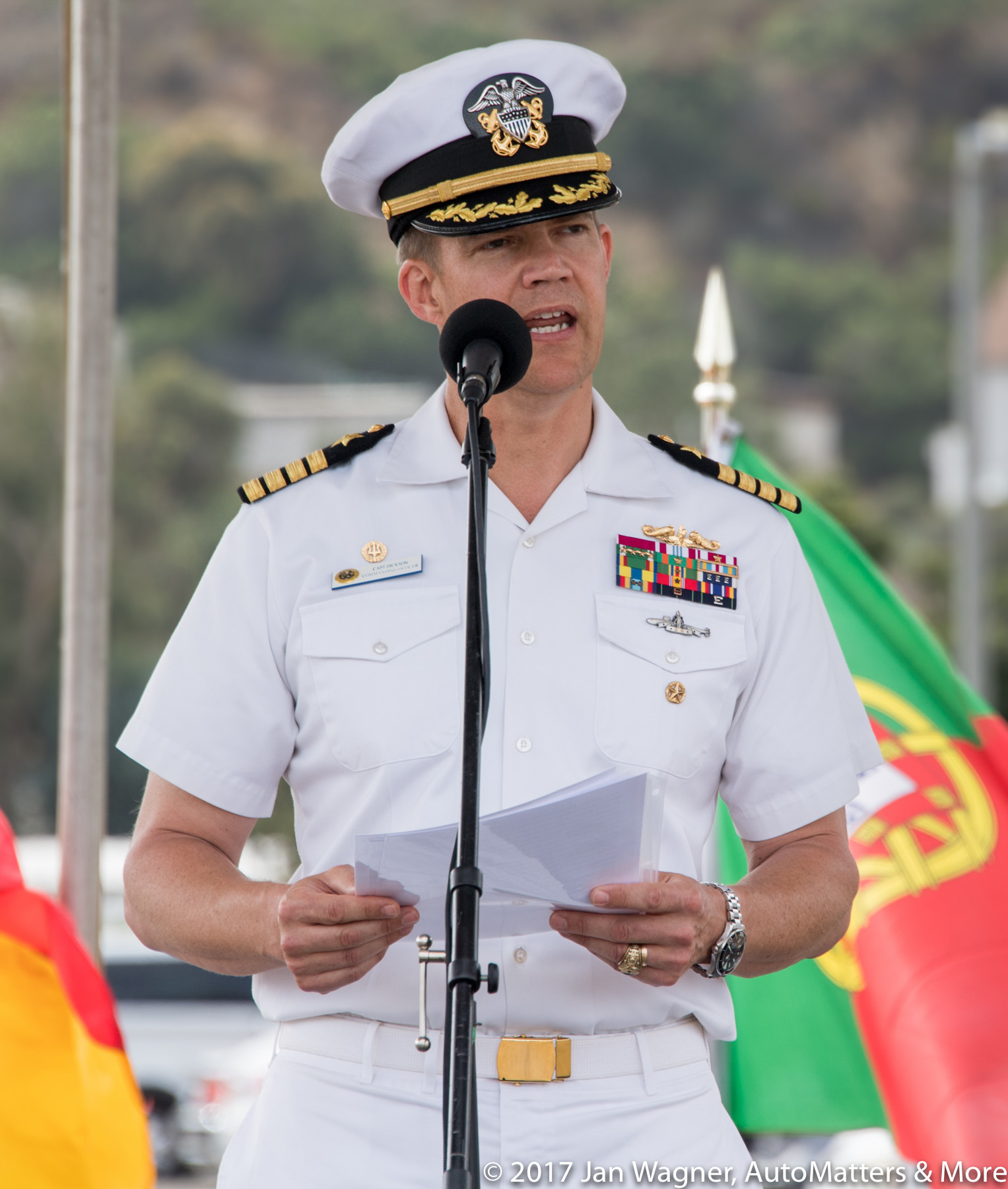 Opening remarks by Captain Dickson, Commanding Officer
