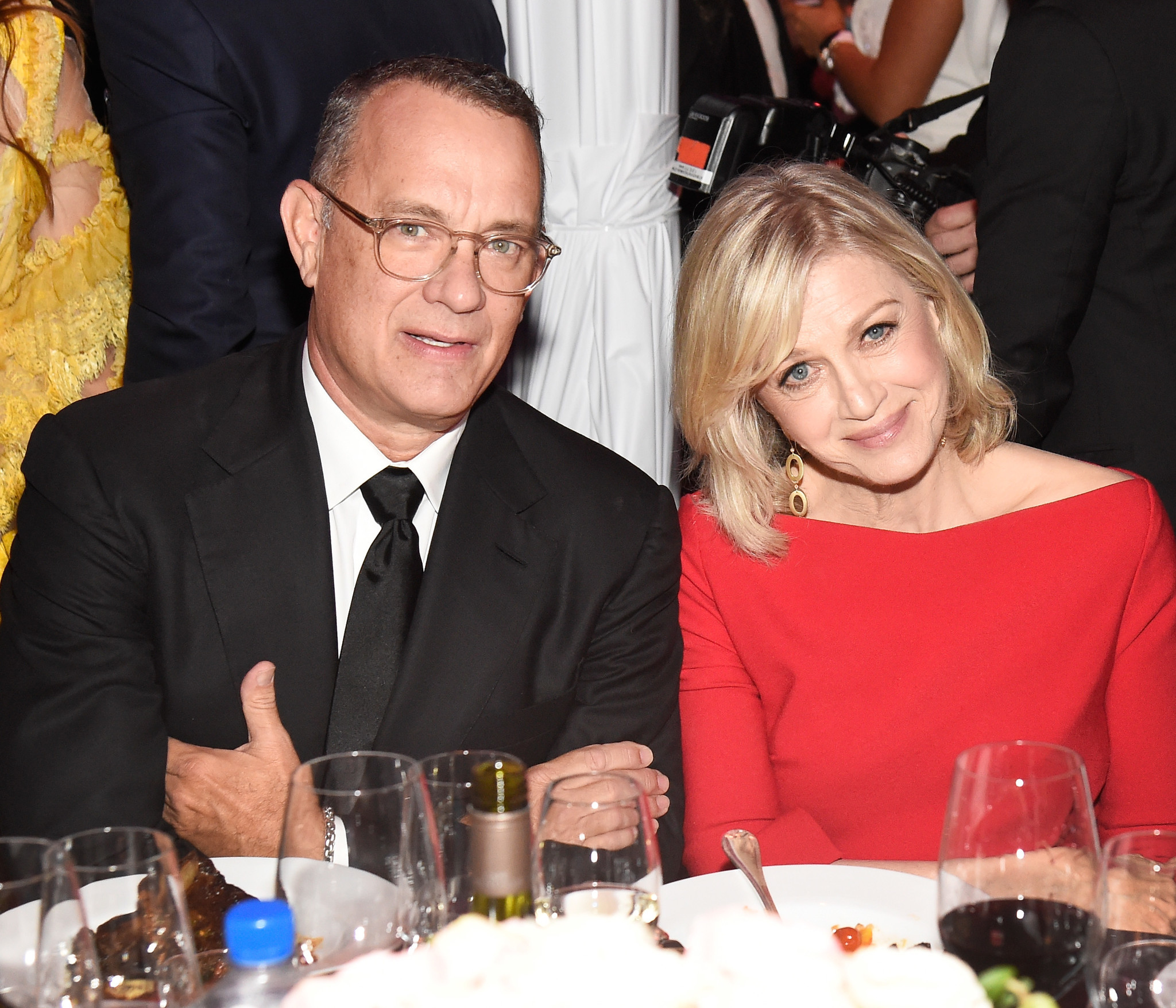 Tom Hanks and Diane Sawyer at the amfAR Gala Los Angeles.