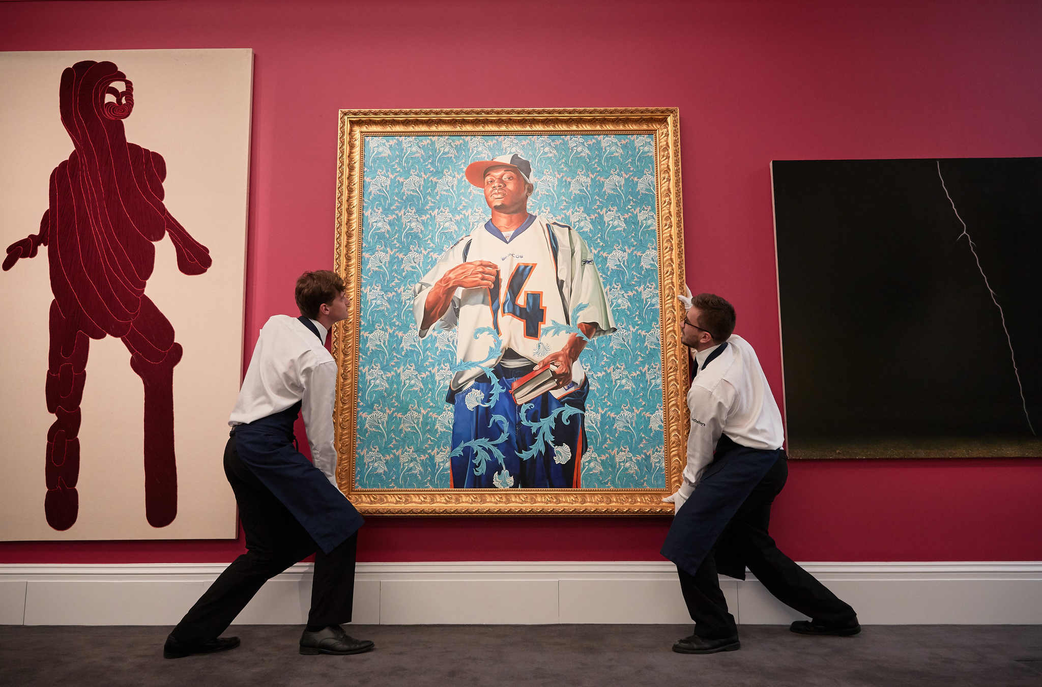 'St. Francis' by Kehinde Wiley goes on view at Sotheby's last month in London. (Getty Images for Sotheby's)