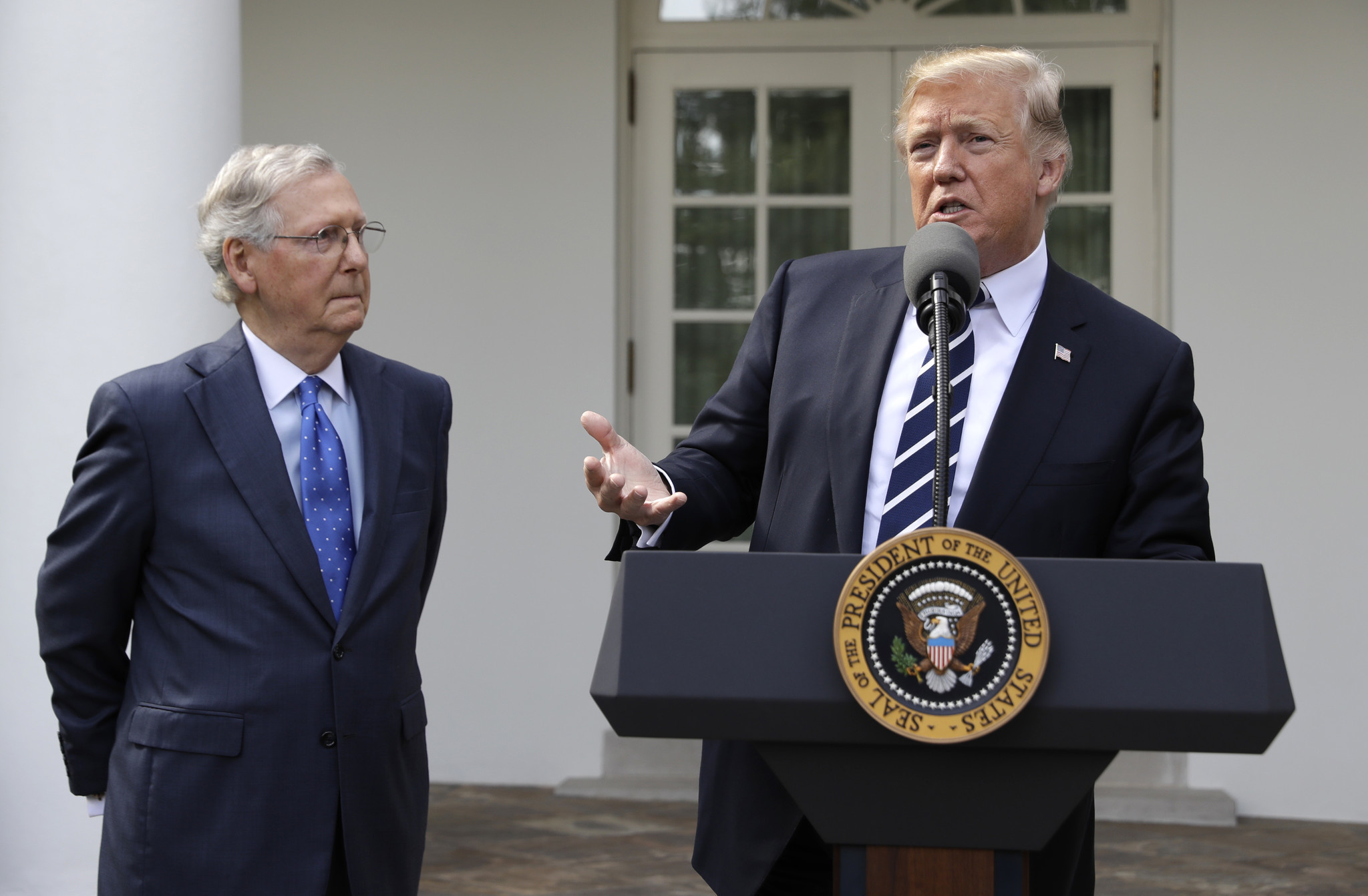 Trump, McConnell insist they're together for GOP agenda