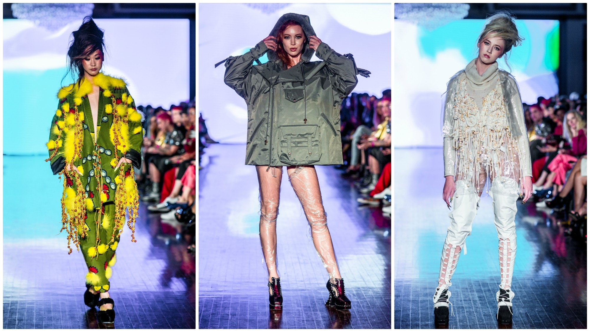 Looks from Mary Me Jimmy Paul runway show during LA Fashion Week.