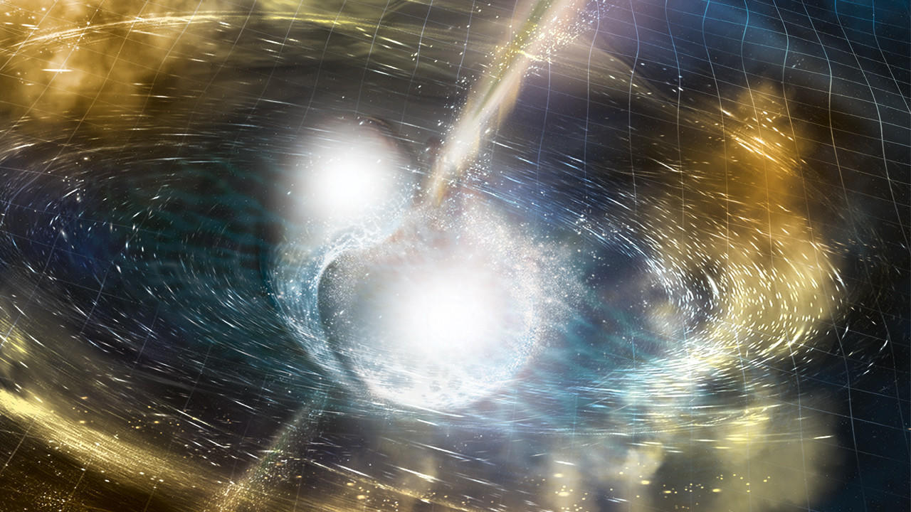 Astronomers strike gold – and platinum – as they watch two neutron stars collide