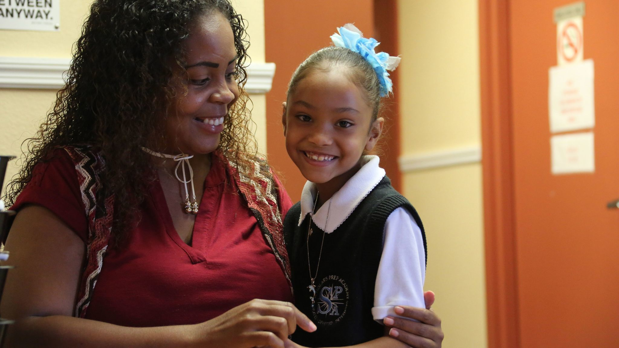Arcelis Rodriguez picked Scholar's Prep for her six-year-old daughter Grace last year because her older daughter was bullied in her public school.