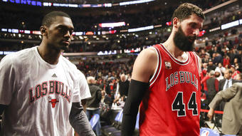 Bulls' Nikola Mirotic out with two broken bones in face after being punched by teammate Bobby Portis