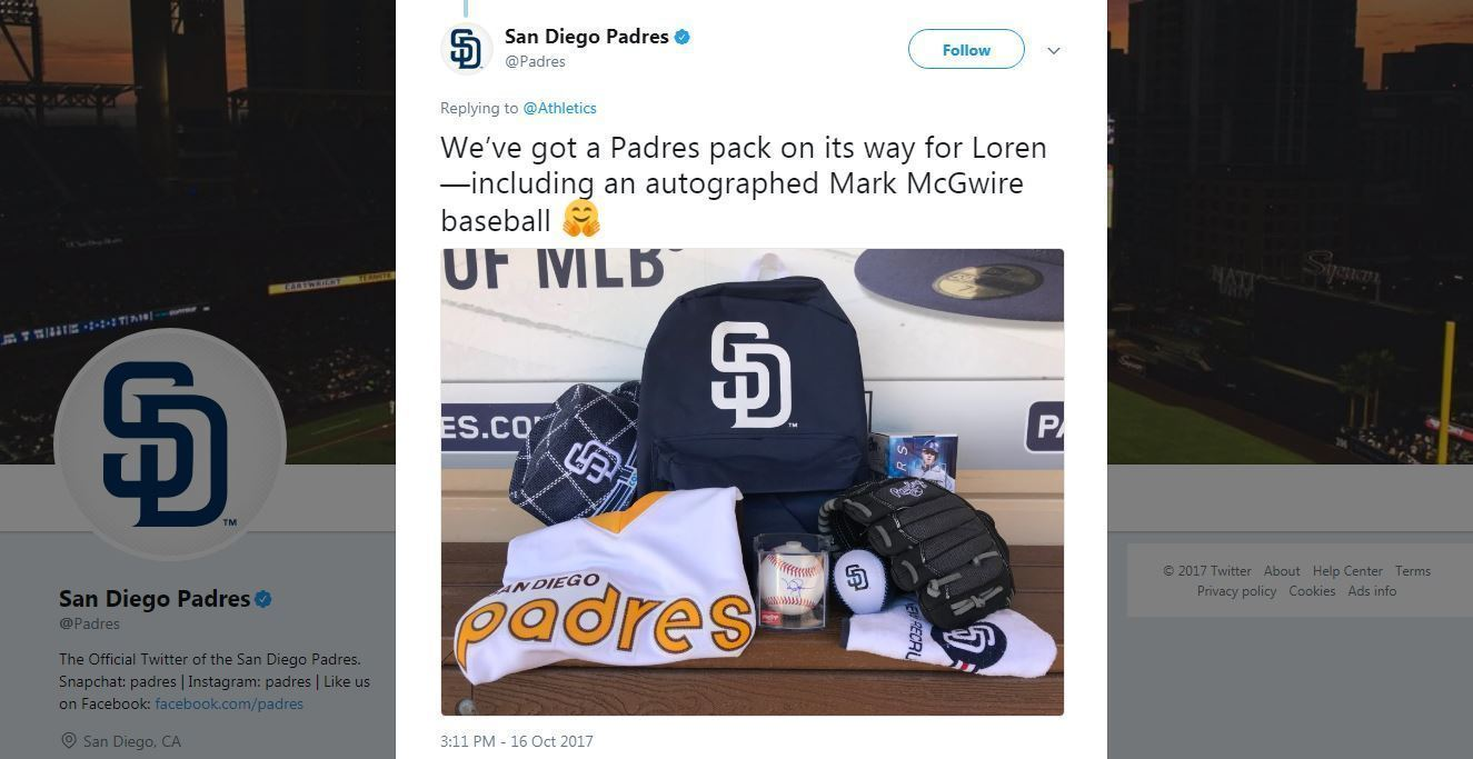 Sd-san-diego-padres-replace-boy-baseball-gear-lost-santa-rosa-fires-20171017