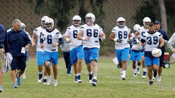 Chargers linemen from same high school make former coach proud