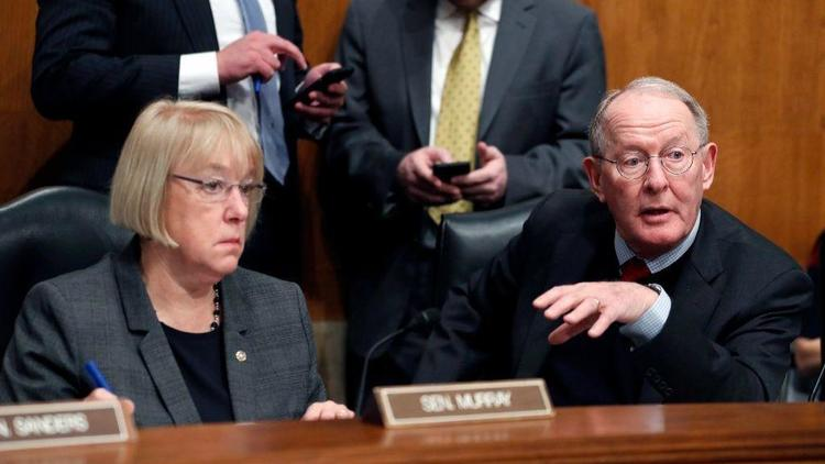 Sens. Patty Murray (D-Wash.) and Lamar Alexander (R-Tenn.), the two top lawmakers on the Senate Health Committee, announced a breakthrough Tuesday in their negotiations to stabilize Obamacare markets. (Alex Brandon / Associated Press)