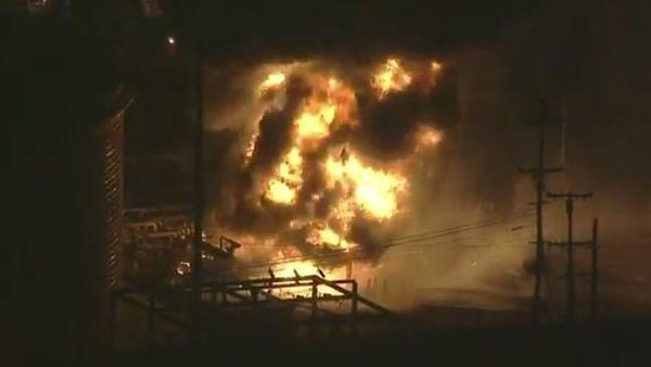 Residents advised to close windows after fire erupts at Chevron oil refinery in El Segundo