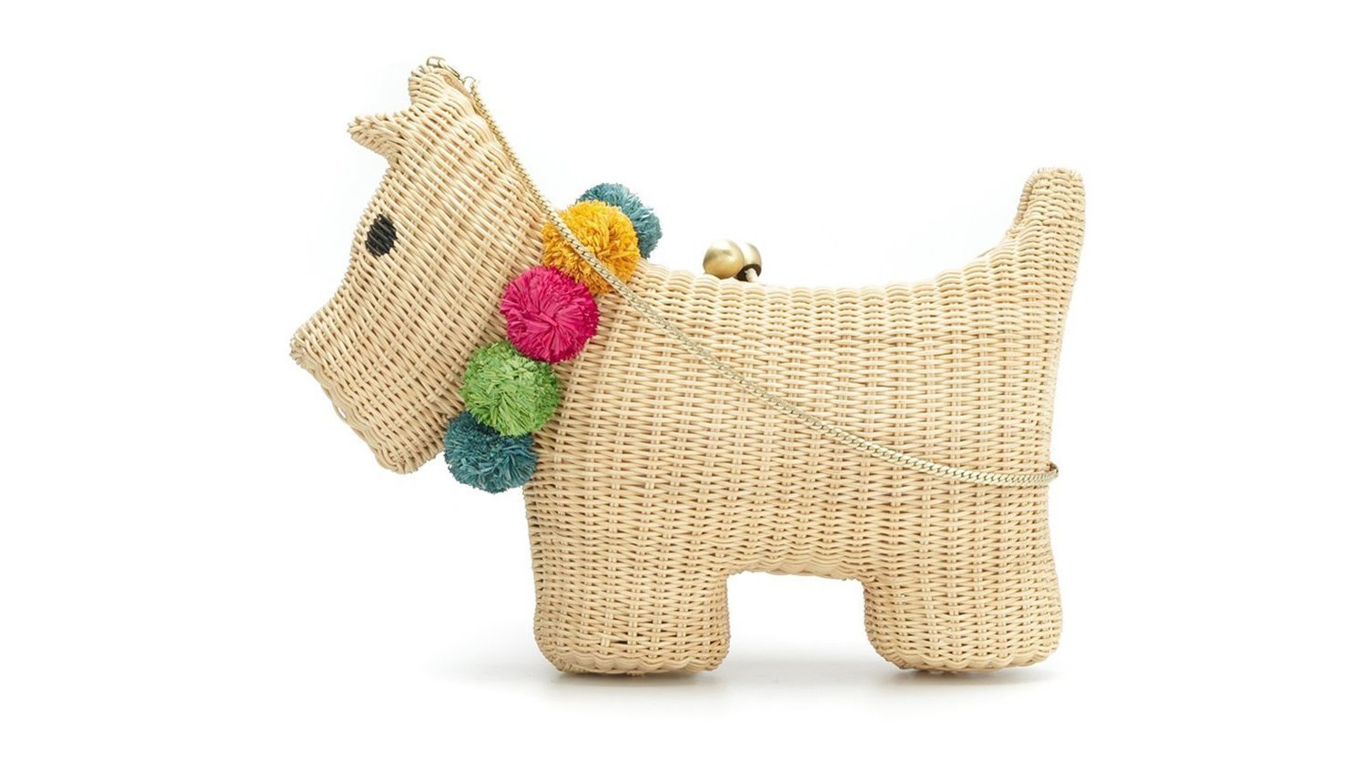 Serpui's 100% straw pooch-shaped clutch bag.