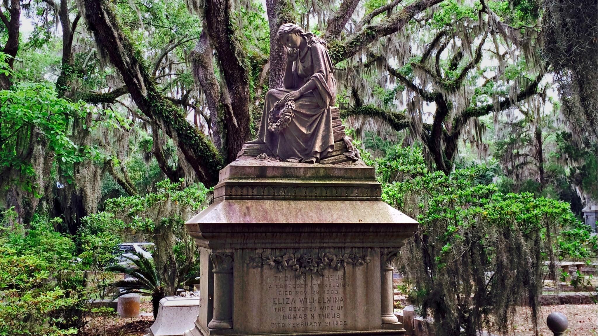 """Bonaventure Cemetery in Georgia, one of Loren Rhoads """"199 Cemeteries to See Before You Die."""""""