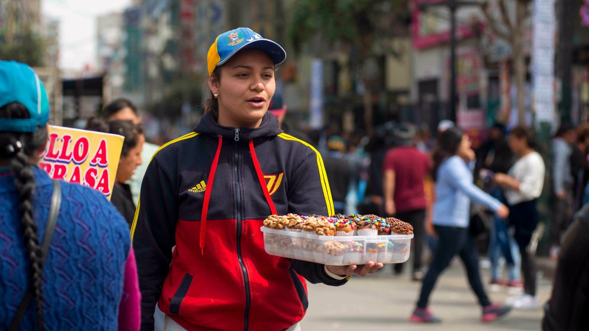 Ana Linares makes more selling baked goods in Lima, Peru, than she did working back in her native Venezuela.