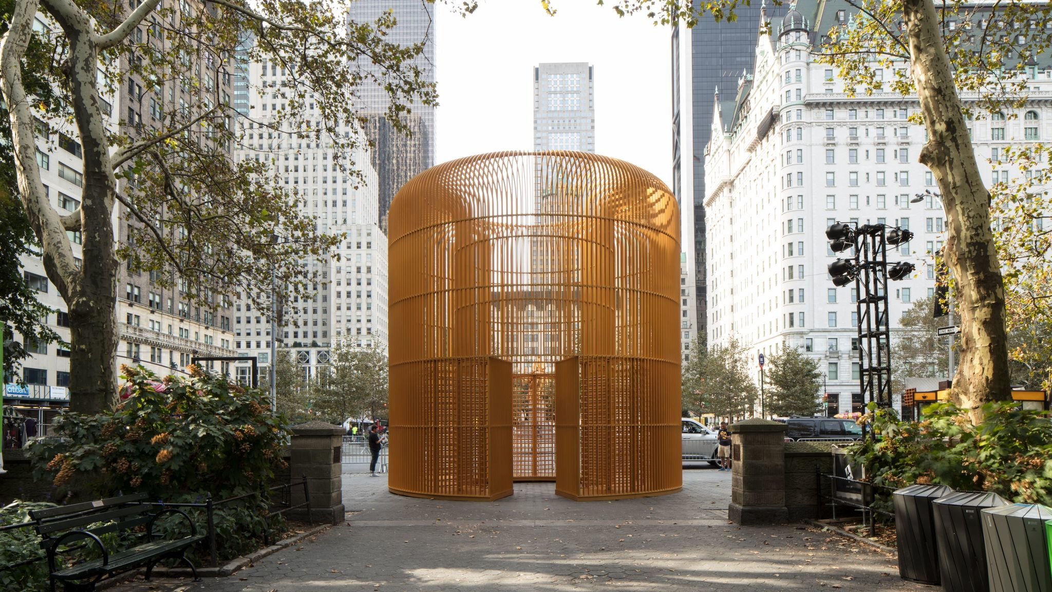 """Gilded Cage"" is located inside Central Park."