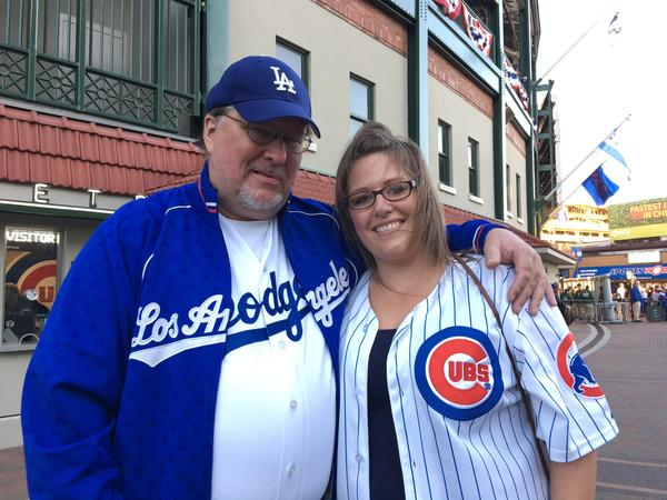 Norm and Brittany Alleman. (Hailey Branson-Potts / Los Angeles Times)