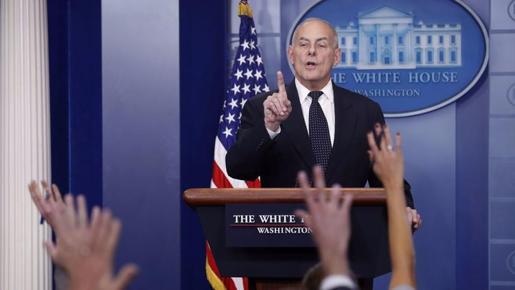 White House Chief of Staff John F. Kelly. (Shawn Thew / European Pressphoto Agency)