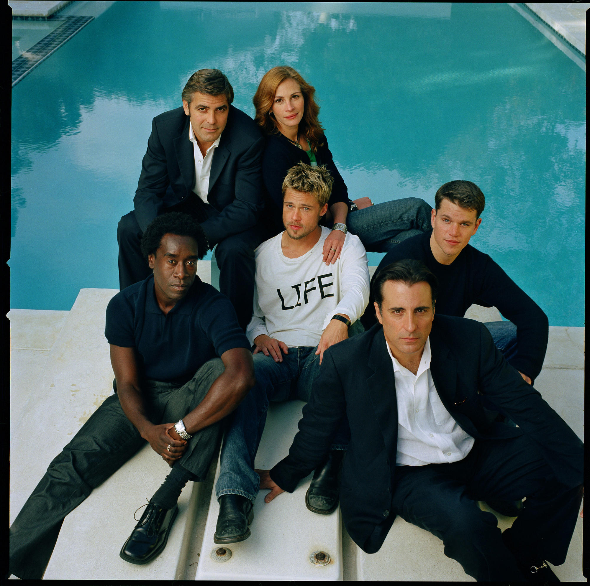 """Ocean's Eleven "" cast members, taken in Malibu, Calif., in 2001."
