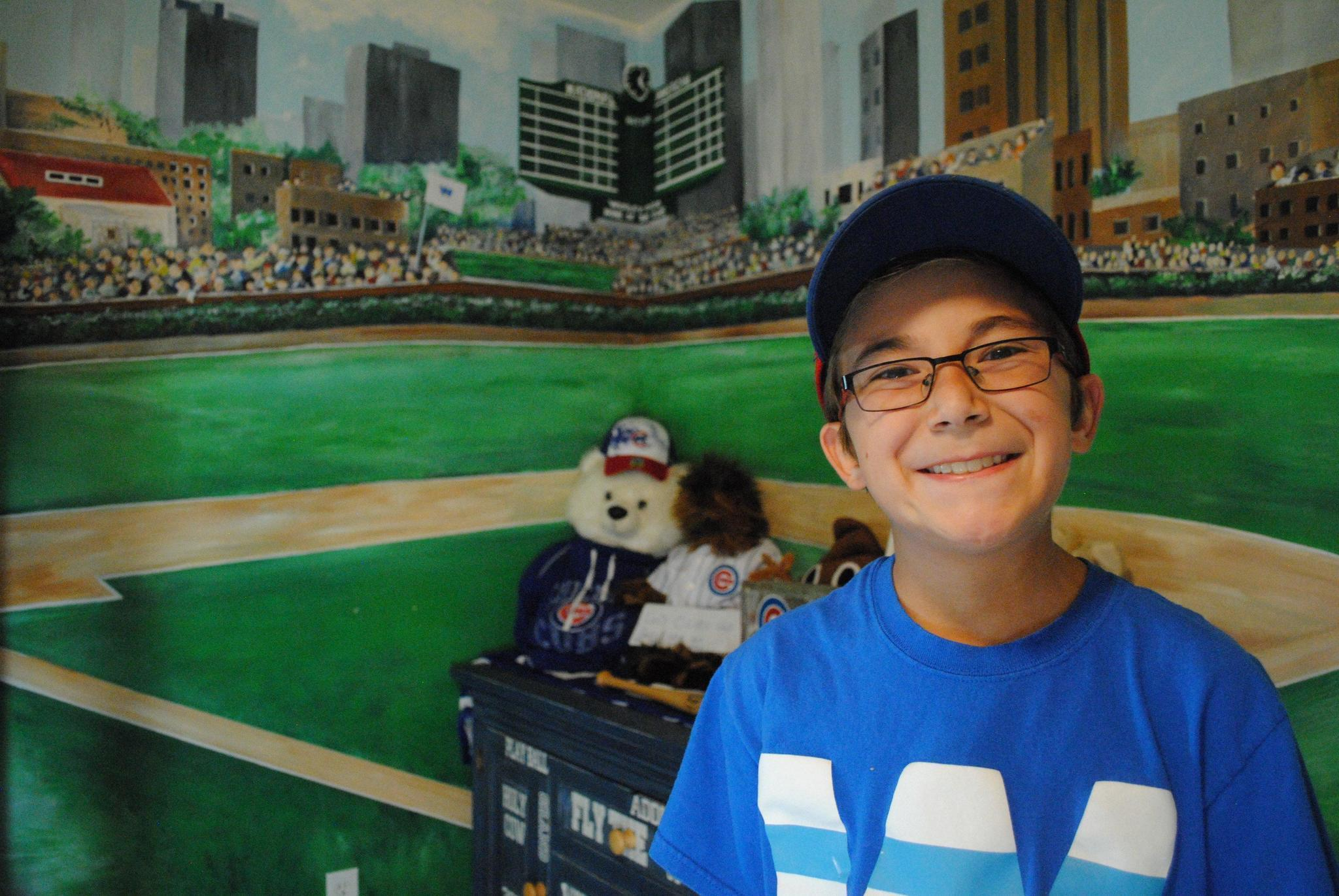 Young fan roots on cubs with wrigley field bedroom mural post young fan roots on cubs with wrigley field bedroom mural post tribune amipublicfo Gallery