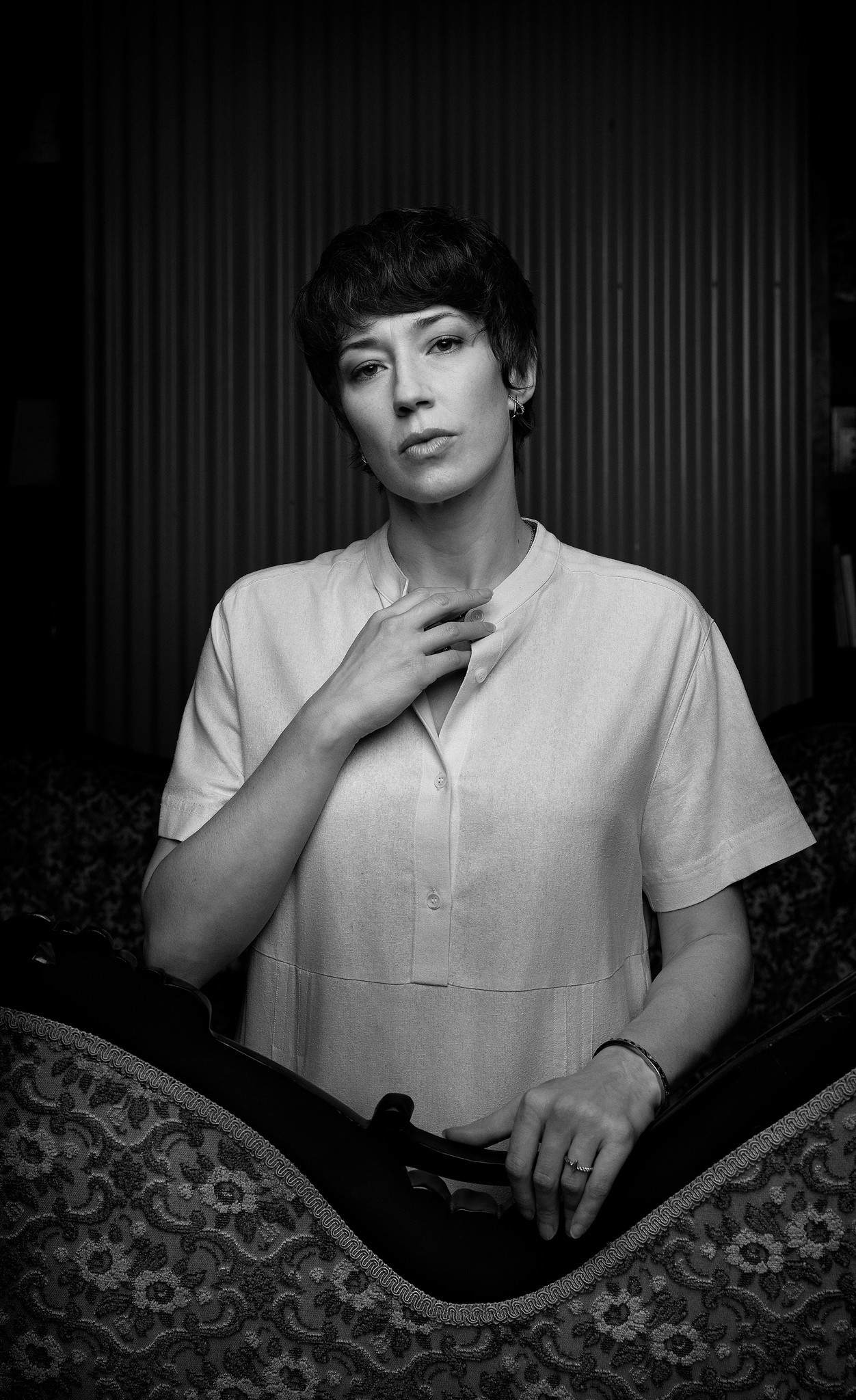 Carrie Coon, photographed at China Blue in New York.