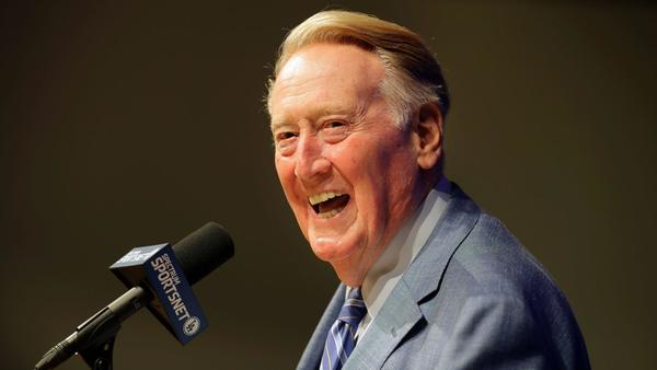 Dodger fans make an appeal to their highest power: Vin Scully