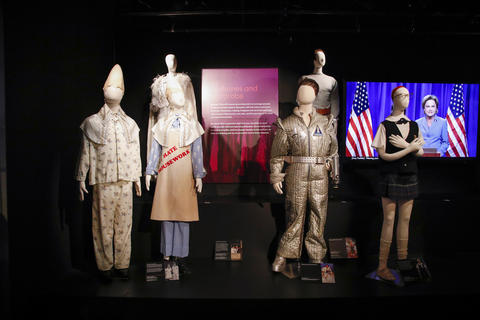 "Various costumes are part of the ""Saturday Night Live: The Experience"" exhibit at the Museum of Broadcast Communications in Chicago on Oct. 20, 2017."