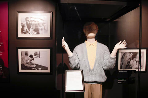 "Stuart Smalley's costume, worn by Al Franken, is displayed as part of the ""Saturday Night Live: The Experience"" exhibit at the Museum of Broadcast Communications in Chicago on Oct. 20, 2017."