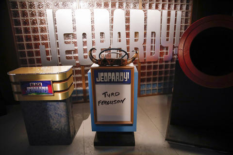 "The Jeopardy set is part of the ""Saturday Night Live: The Experience"" exhibit at the Museum of Broadcast Communications in Chicago on Oct. 20, 2017."