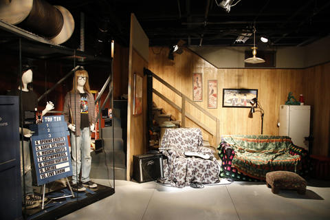 "The Wayne's World set is part of the ""Saturday Night Live: The Experience"" exhibit at the Museum of Broadcast Communications in Chicago on Oct. 20, 2017."