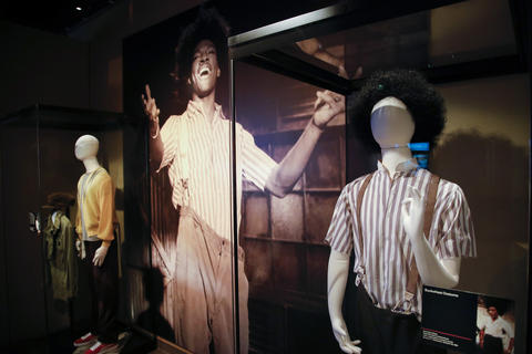 "The Buckwheat costume, right, is part of the ""Saturday Night Live: The Experience"" exhibit at the Museum of Broadcast Communications in Chicago on Oct. 20, 2017."