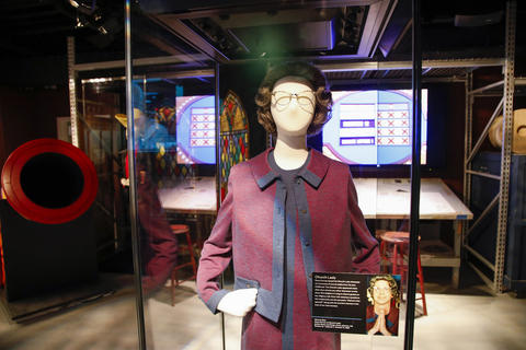 "The Church Lady costume, worn by Dana Carvey, is displayed as part of the ""Saturday Night Live: The Experience"" exhibit at the Museum of Broadcast Communications in Chicago on Oct. 20, 2017."