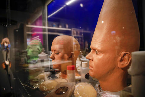 "The hair, makeup and prosthetics area is part of the ""Saturday Night Live: The Experience"" exhibit at the Museum of Broadcast Communications in Chicago on Oct. 20, 2017."