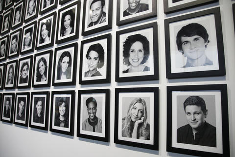 "Photographs of cast members are part of the ""Saturday Night Live: The Experience"" exhibit at the Museum of Broadcast Communications in Chicago on Oct. 20, 2017."