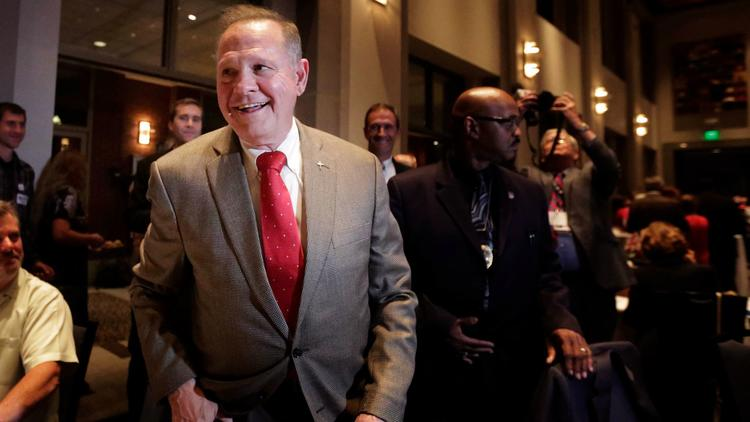 Senate candidate Roy Moore in Montgomery, Ala., in September. (Brynn Anderson / Associated Press)