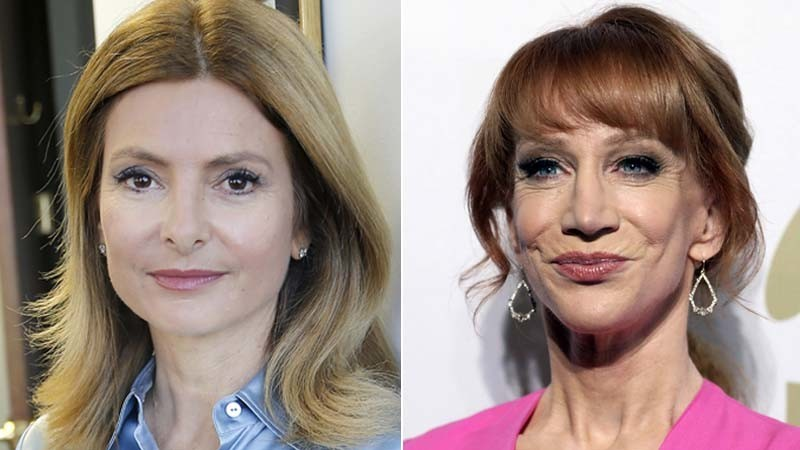 Lisa Bloom, left, and Kathy Griffin. (Kirk McKoy / Los Angeles Times, from left; Rich Fury / Associated Press)