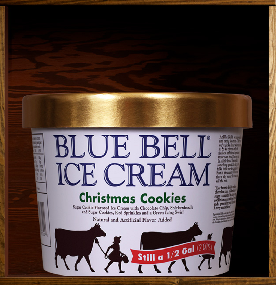 Blue bell ice cream reveals 39 christmas cookies 39 as latest for Where can i find blue bell christmas cookie ice cream