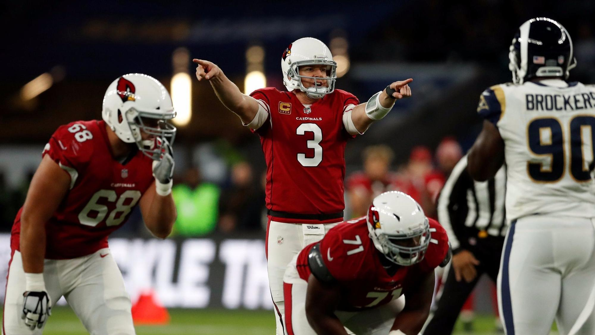 A splint decision for possible Carson Palmer David Johnson