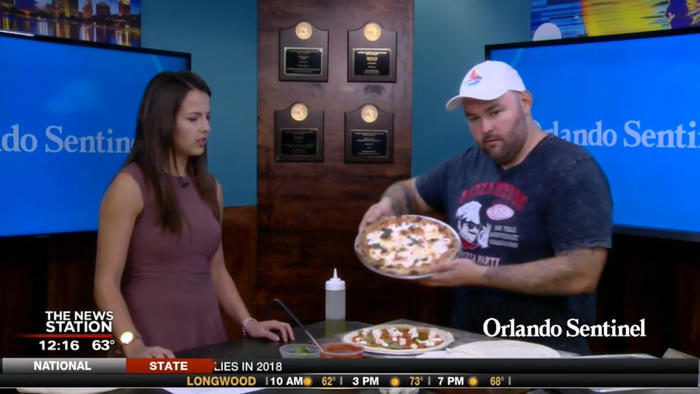 Tossing pizza dough with Pizza Bruno - Orlando News Now