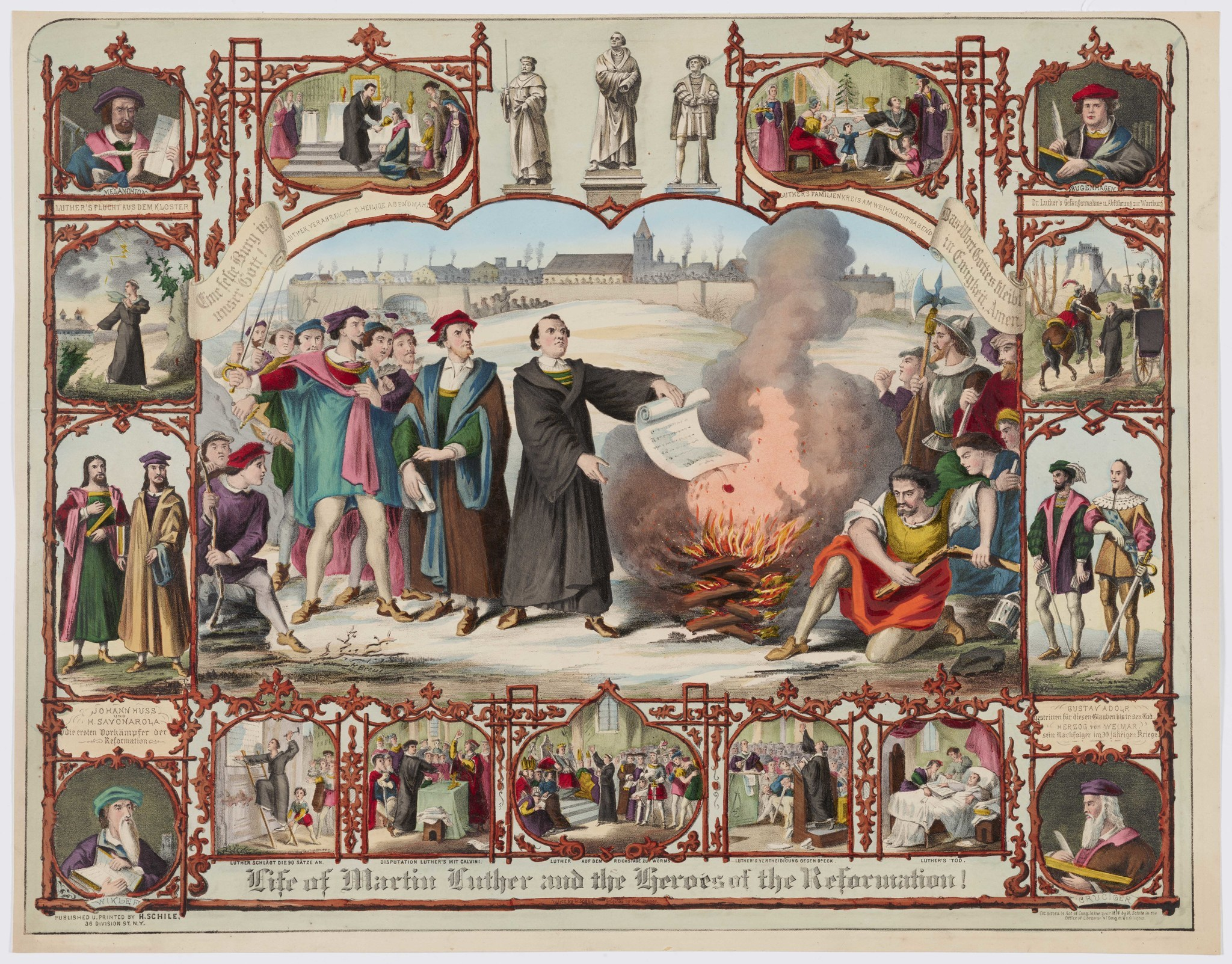 """Life of Martin Luther and the heroes of the Reformation,"" 1874, by H. Breul after H. Brückner."