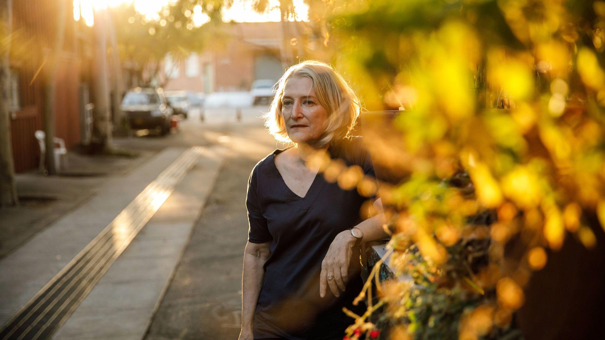 Artist Sylvia Tidwell outside of Los Angeles' Santa Fe Art Colony, where she is head of the tenants association.