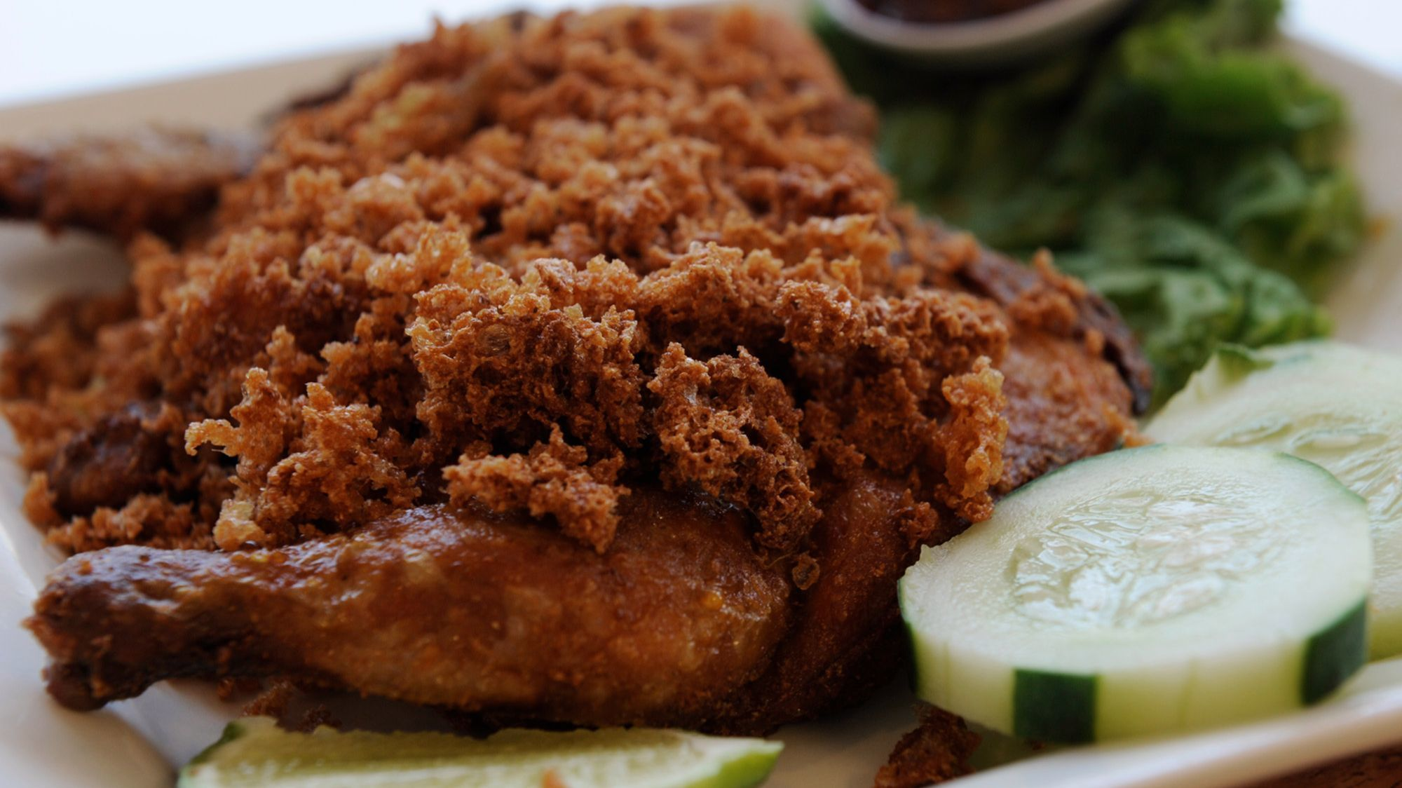 The Indonesian fried chicken at Merry's House of Chicken.