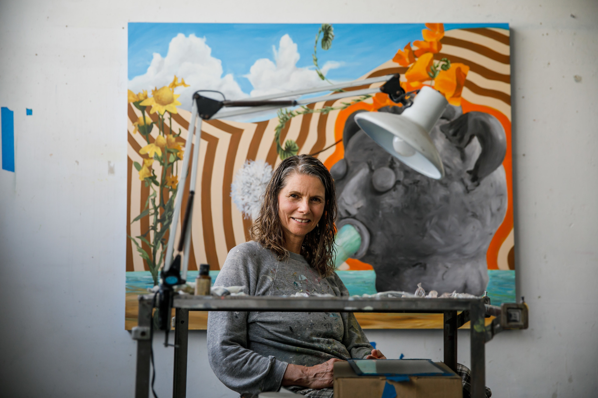 """Painter Lisa Adams, who has been at the Santa Fe Art Colony for 13 years, says and end to the art colony """"would be a terrible loss."""""""