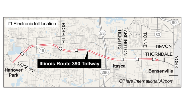 Tollway set to open new I-390 stretch; Chicago Water Taxi extends ...