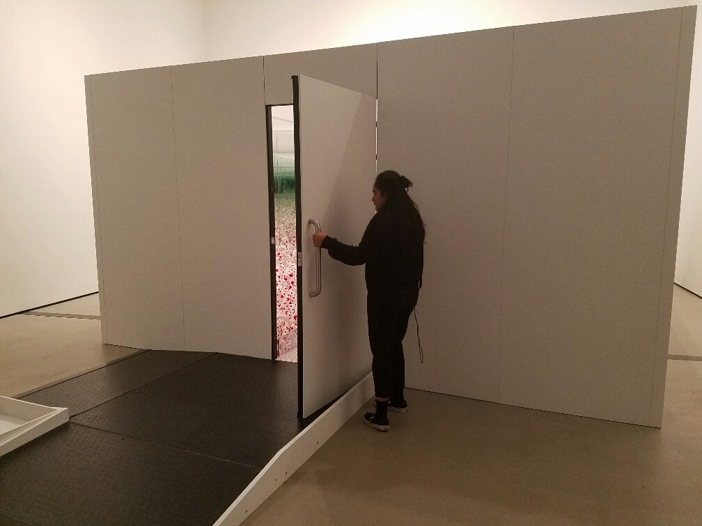 Each mirrored room is a private gallery for one inside the special exhibition. An attendant with a stopwatch politely shoos you out after 30 seconds inside.