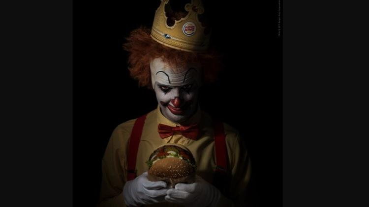 First 500 'scary clowns' can get free Whoppers at Burger King tonight