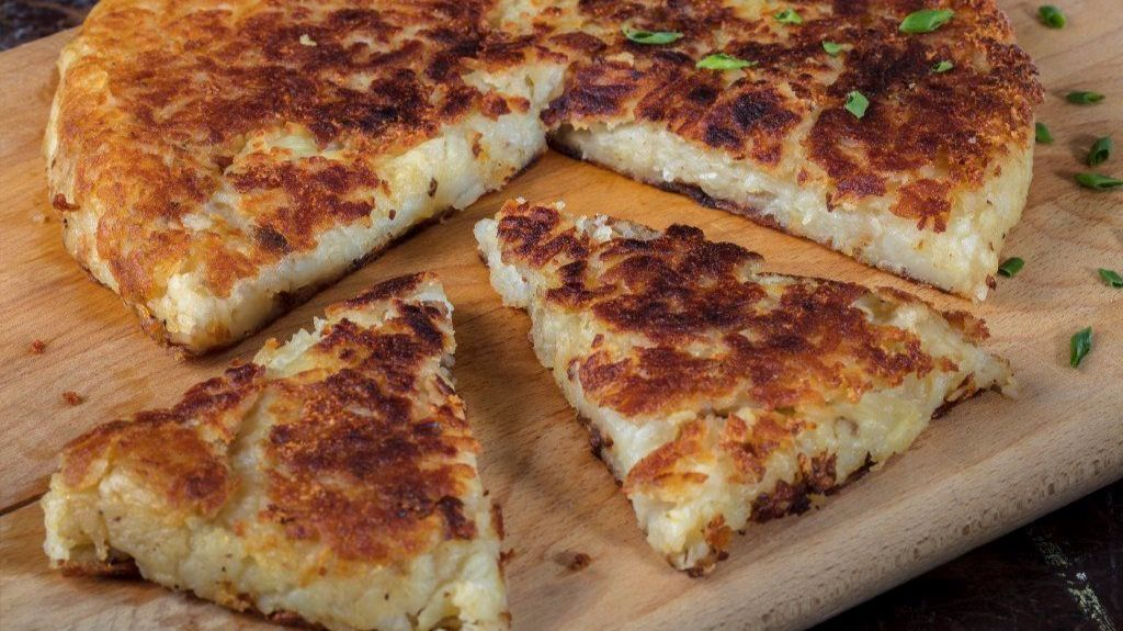 Swiss potato pancakes are all about that flip