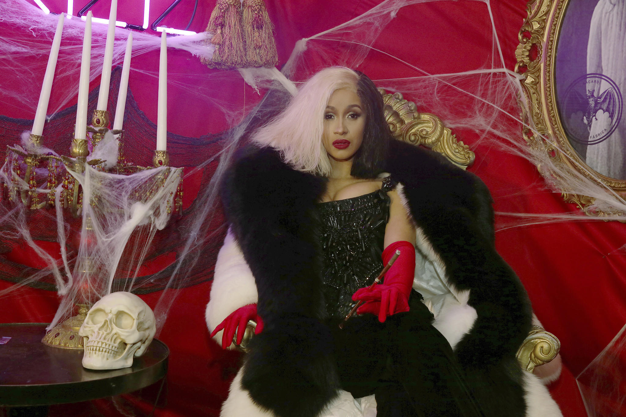Cardi B channels Cruella de Vil. (Donald Traill / Associated Press)