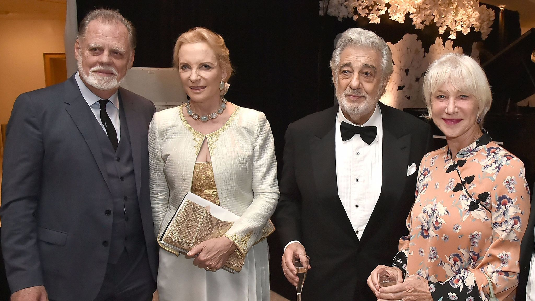 Taylor Hackford left, Princess Michael of Kent, Plácido Domingo and Helen Mirren.