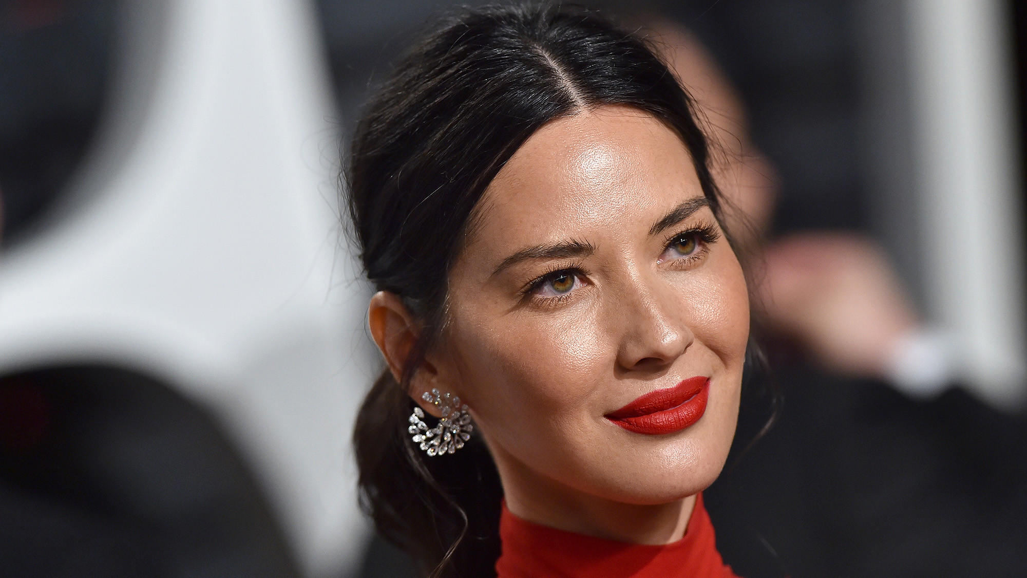 Actress Olivia Munn arrives at the 2017 Vanity Fair Oscar Party in February.