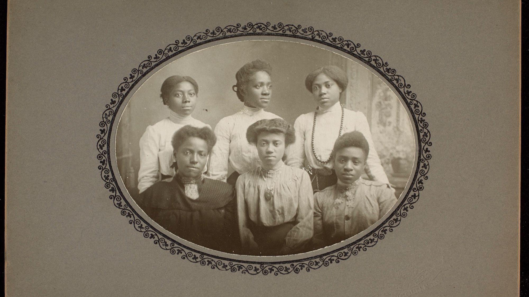"""Untitled (Portrait of Six Women)"" was shot by Hebard Studio in Lincoln, Neb., around 1910."